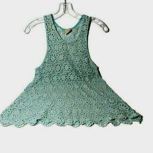 Pins and Needles Crochet Top Sleeveless Open Knit